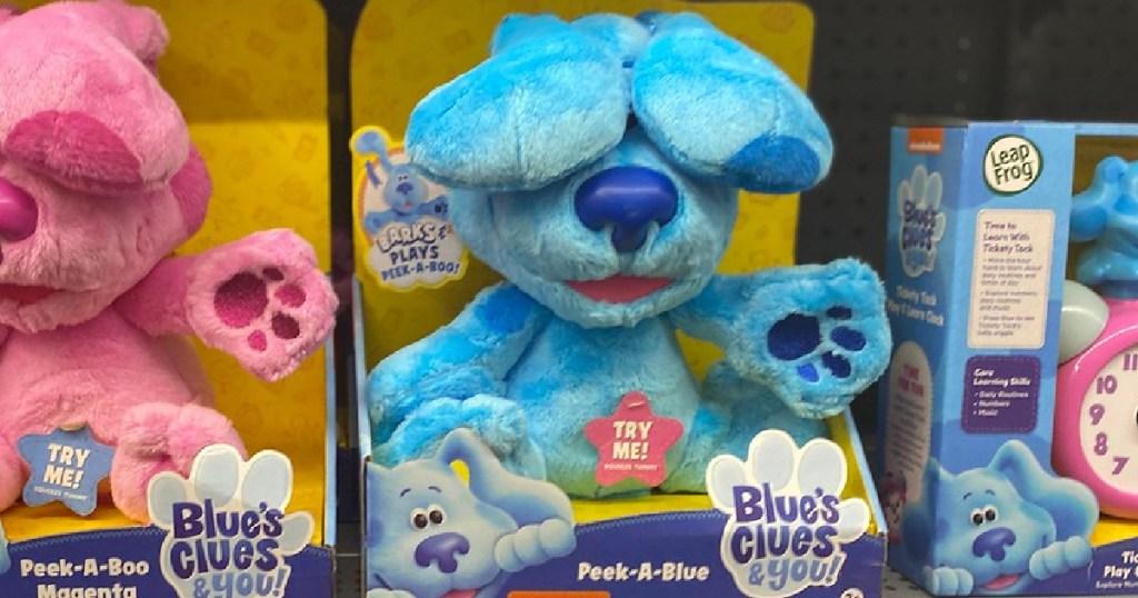 Peek-a-Blue Dog