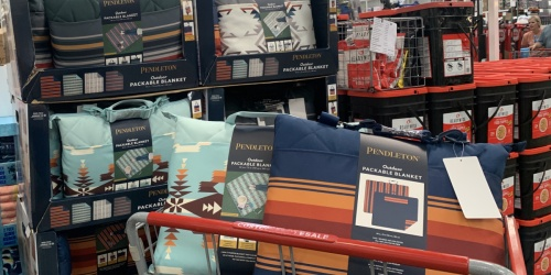 Pendleton Outdoor Blankets Only $24.99 at Costco   Folds Into Zippered Tote