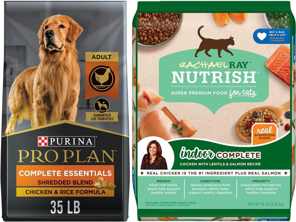 2 large bags of pet food