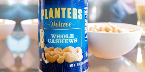 Planters Deluxe Whole Cashews 18.25oz Canister Just $6.74 Shipped on Amazon