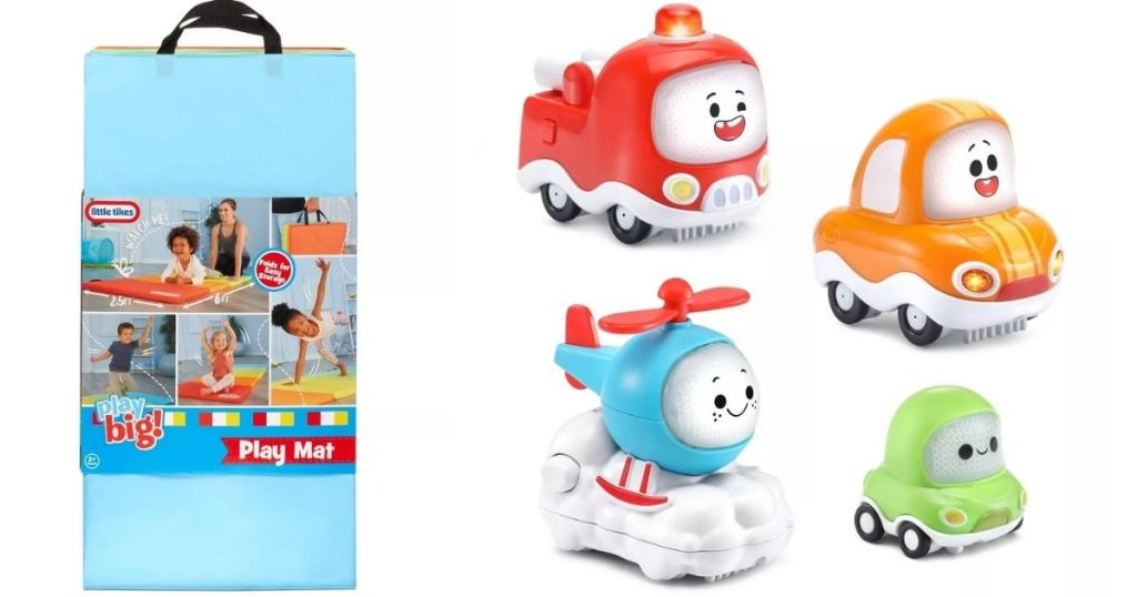 kids play mat and toy cars