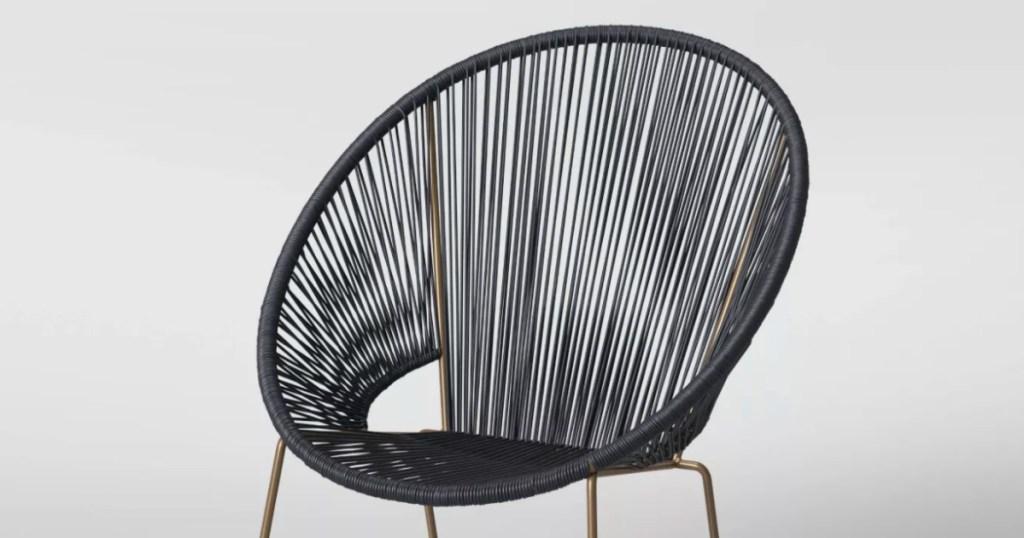 black patio chair