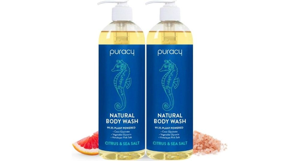 two bottles of body wash