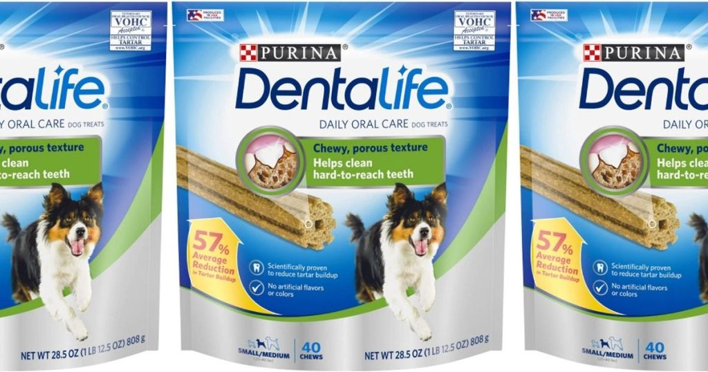 three bags of dental treats