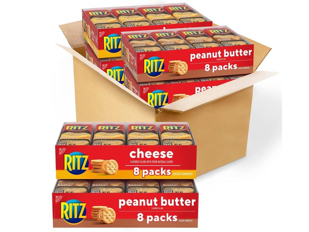 large box of cracker packs