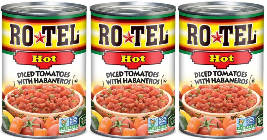 ROTEL Hot Diced Tomatoes and Habaneros 10oz Cans
