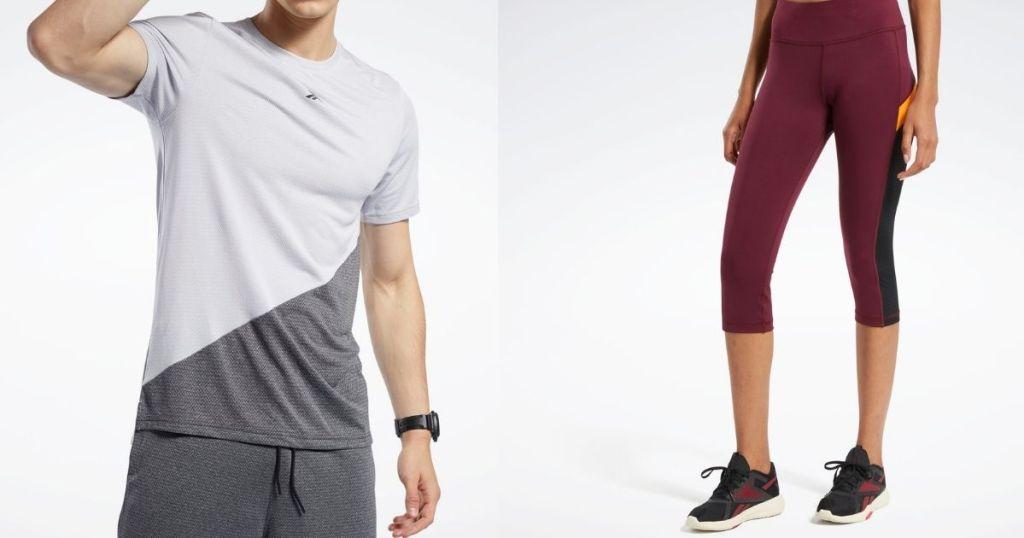 two models wearing Reebok apparel