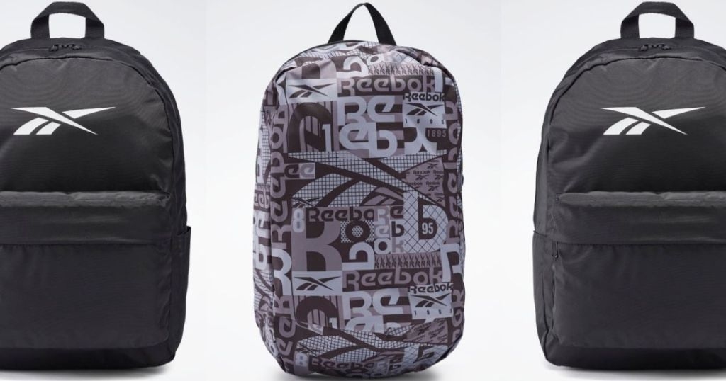 three Reebok Backpacks