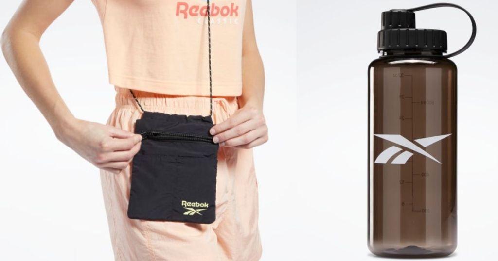 Reebok Bag and Water Bottle