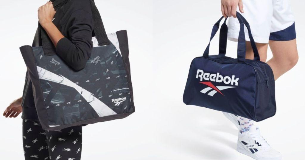 two people carrying Reebok bags