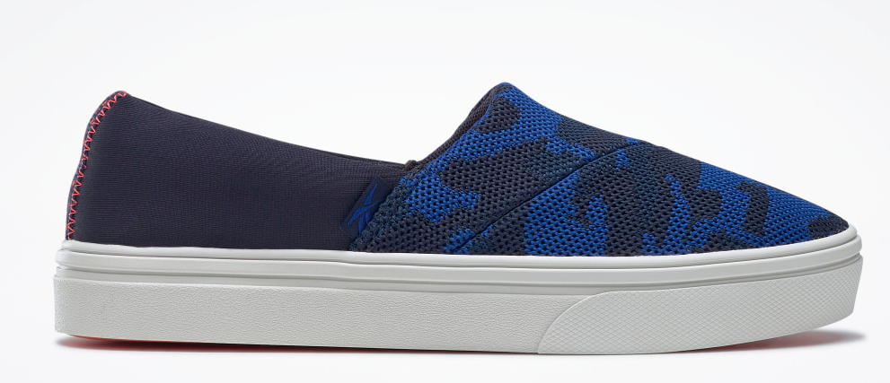 blue, black and white sneaker