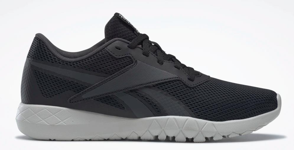 black and white running shoe