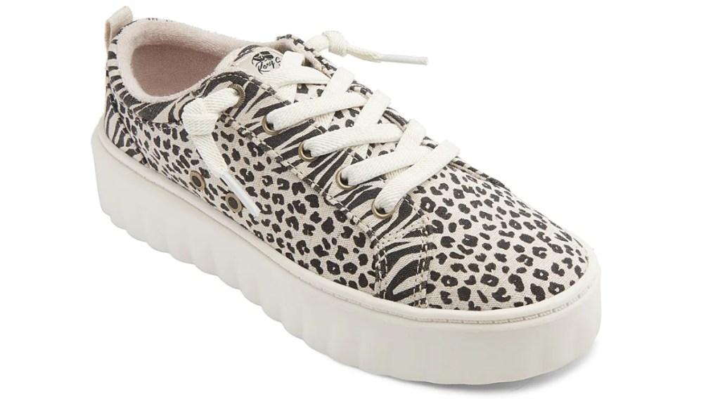 Women's zebra stripe shoe