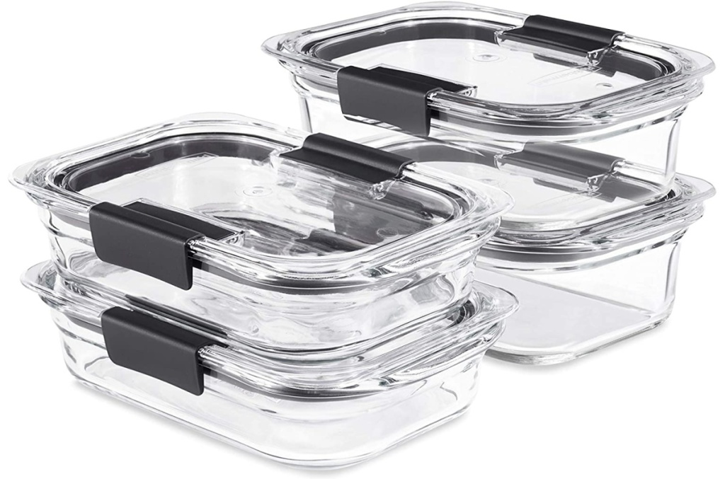 Rubbermaid Brilliance Glass 8-Piece Leak-Proof Food Storage Containers