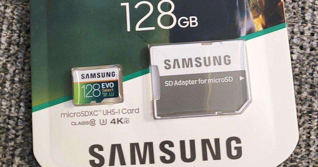 samsung memory card in package