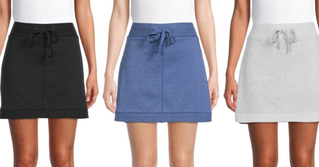 women wearing terry cloth skorts