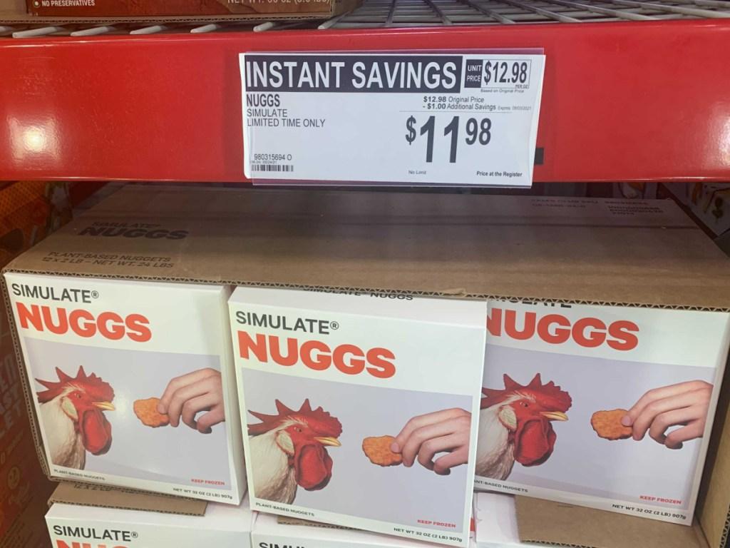 in-store display of Simulate Nuggs
