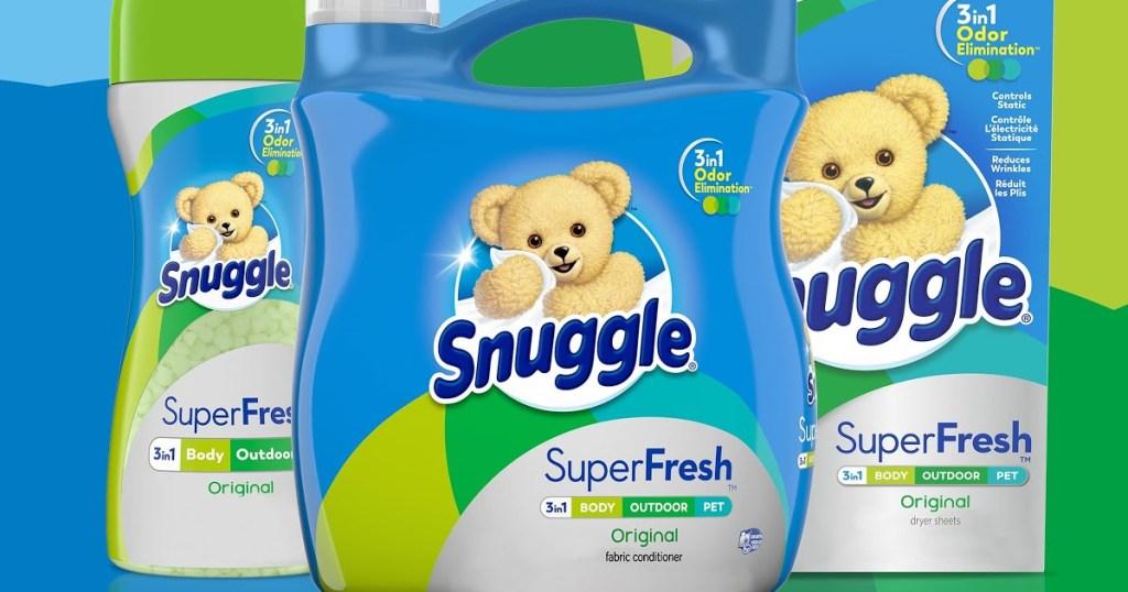 large bottle of snuggle fabric softener