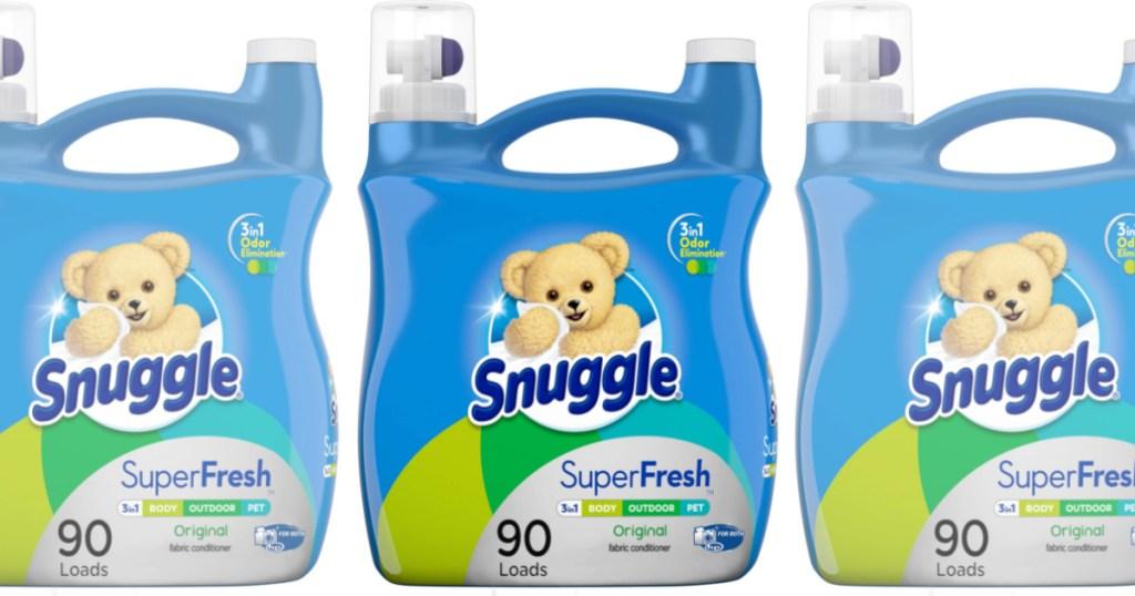 3 lareg bottles of snuggle fabric softener