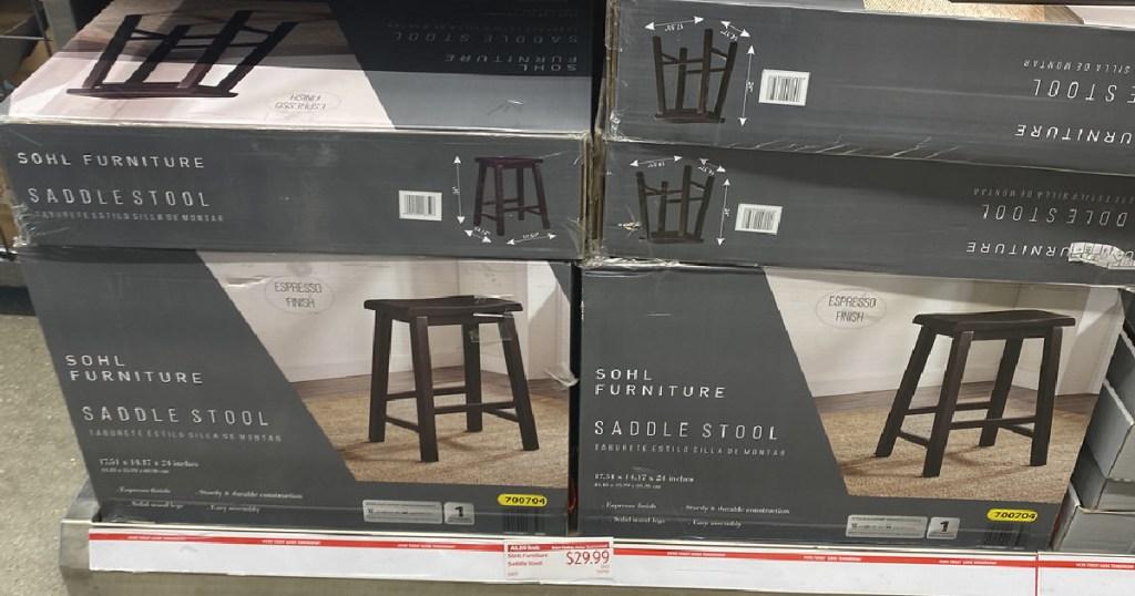 Sohl Furniture Saddle Stools