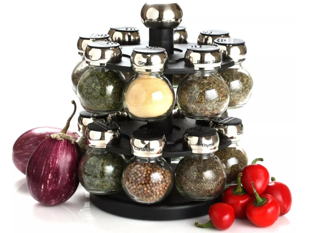 round spice rack