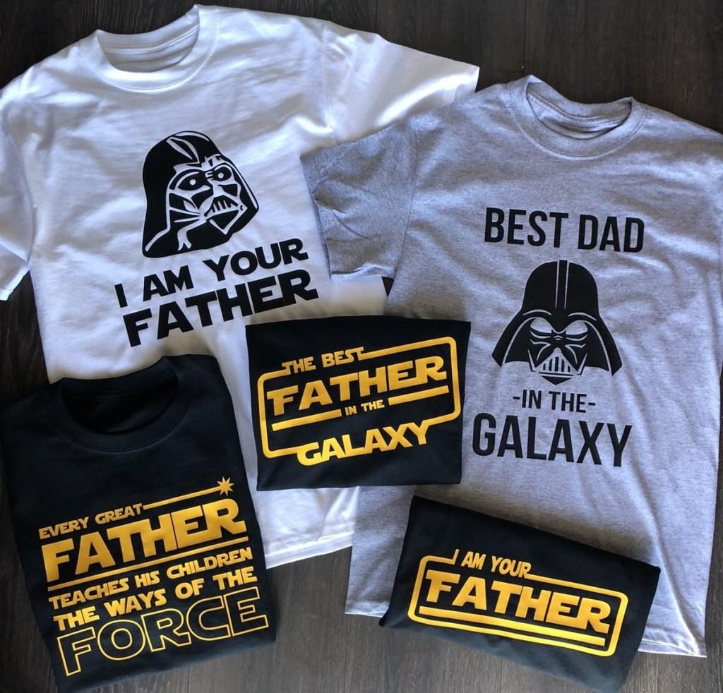 group of Star Wars tees