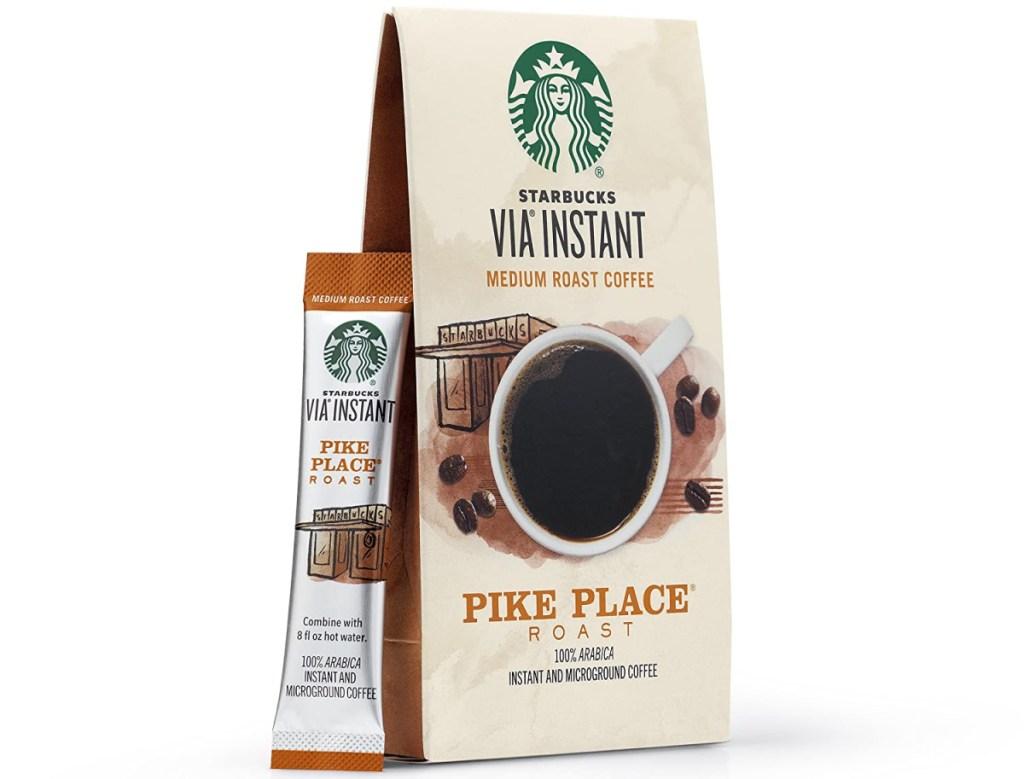 Package of Starbucks VIA