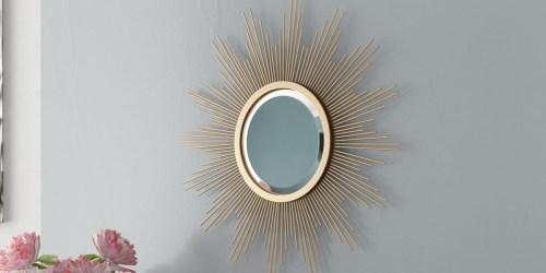 Gold 24″ Metal Starburst Hanging Mirrorw/ Brackets Only $18 on Walmart.com (Regularly $58)