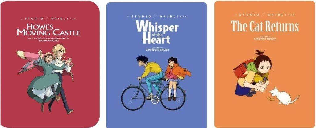 three Studio Ghibli Steelbooks