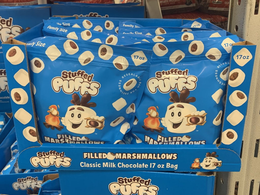 in-store display of stuffed marshmallows