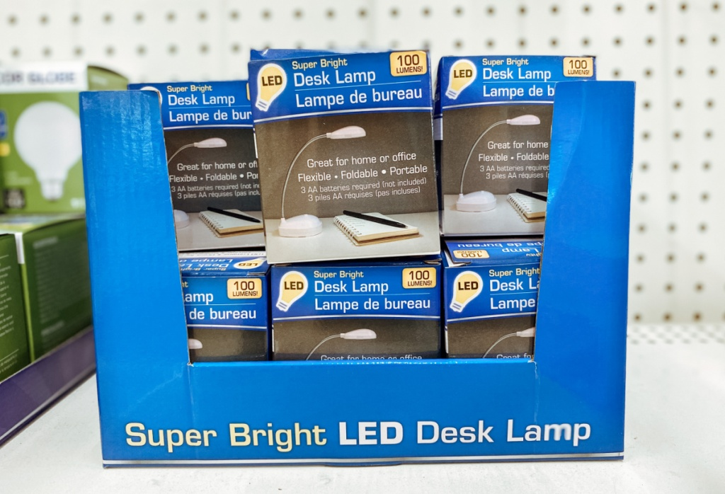 in-store display of LD lamps