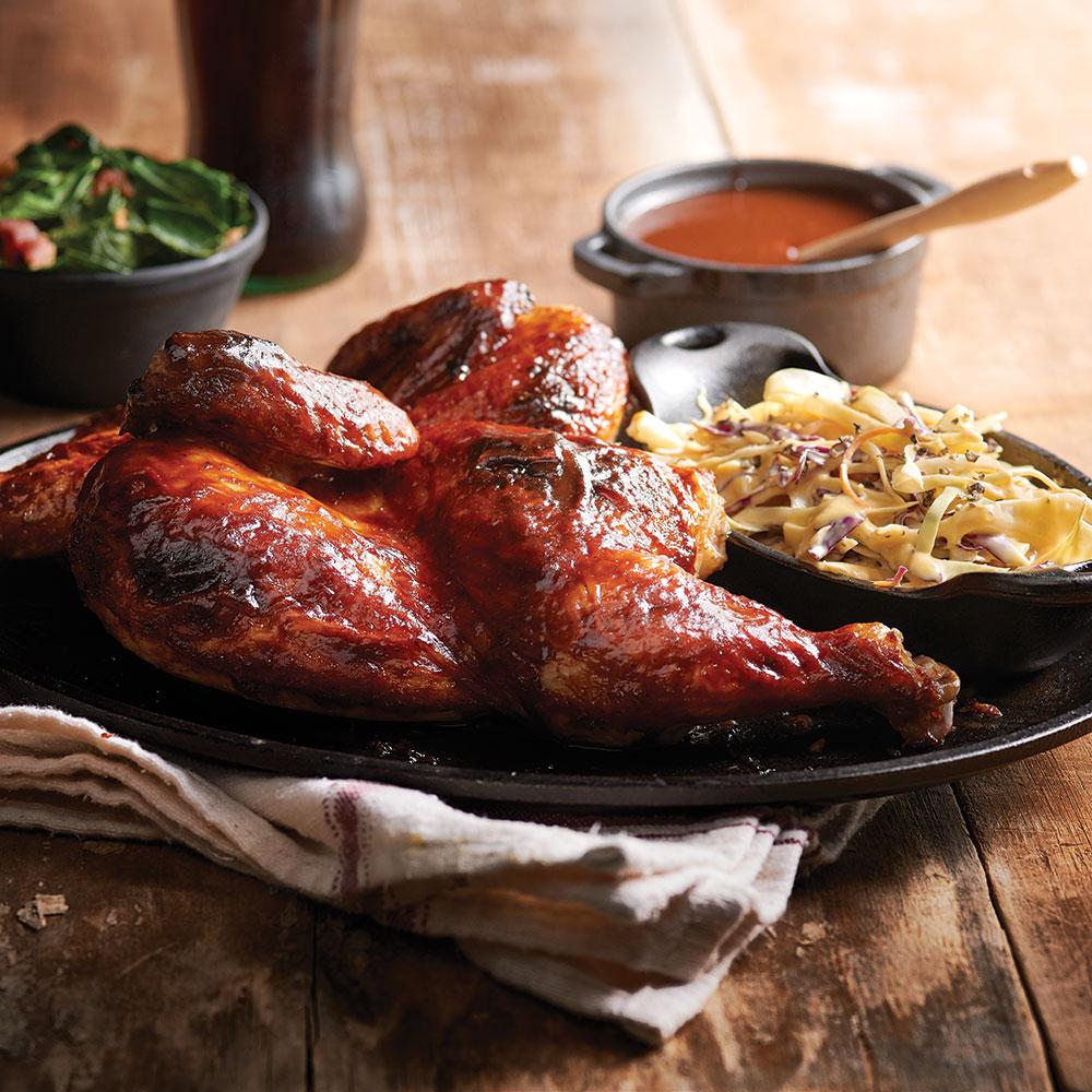Sweet n Bold BBQ Sauce on chicken
