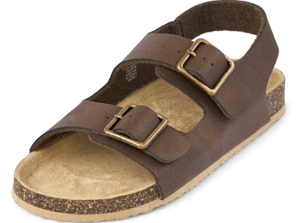 brown and tan boys sandal