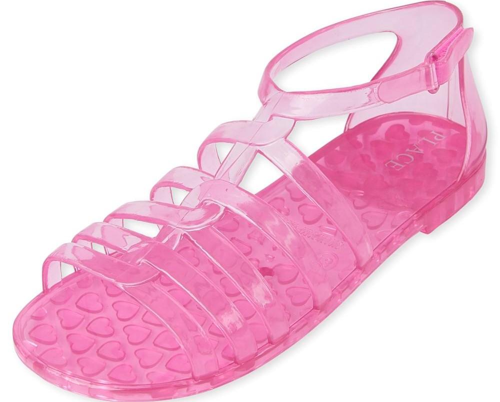 girls pink jelly sandal