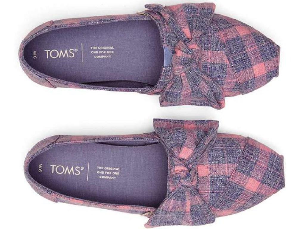 TOMS Alpargata Plaid Bow