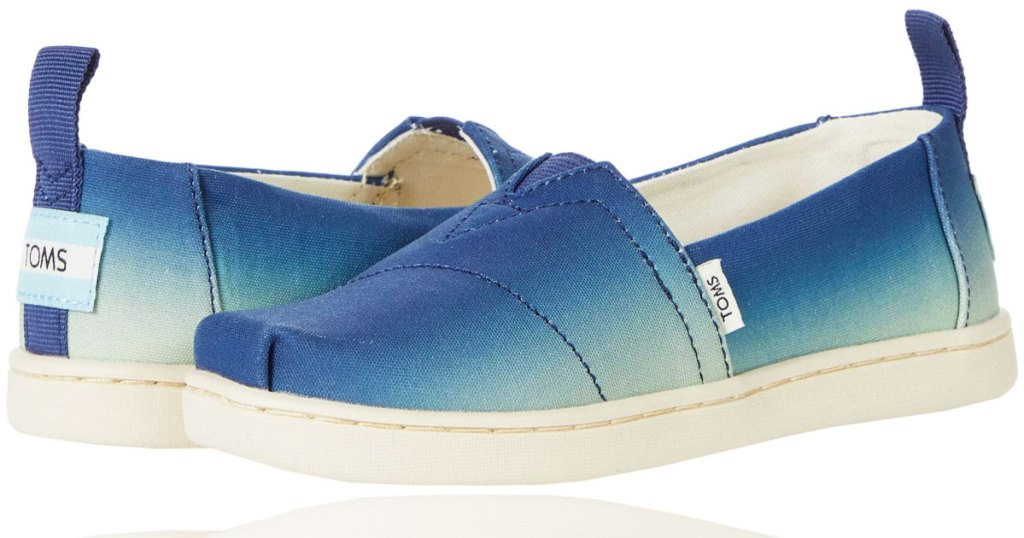 pair of blue ombre toms shoes
