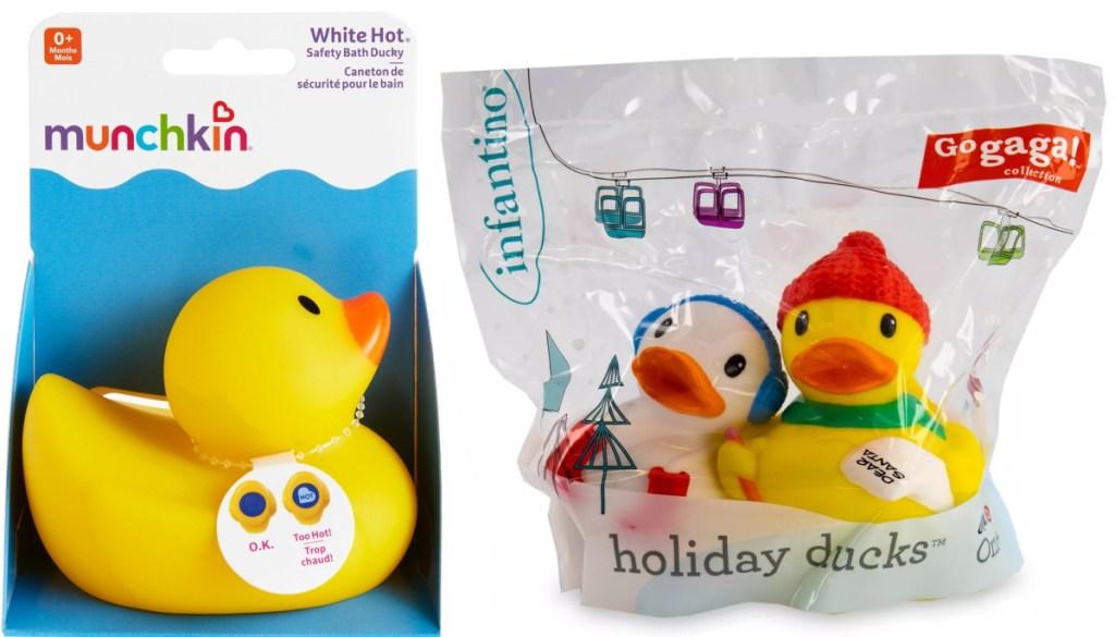 Two packs of baby bath ducks