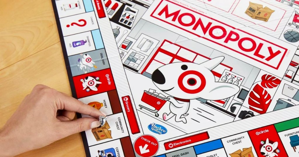 playing Monopoly Target Edition Board Game