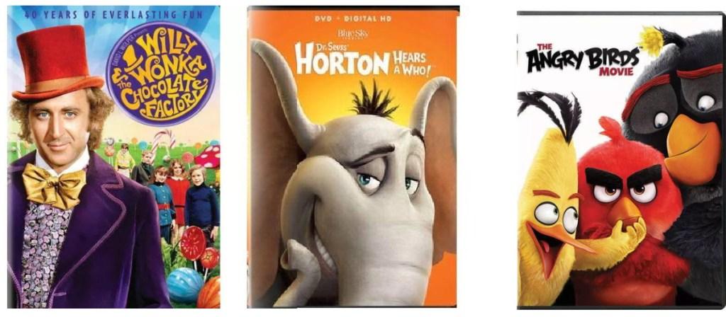 three kids DVDs