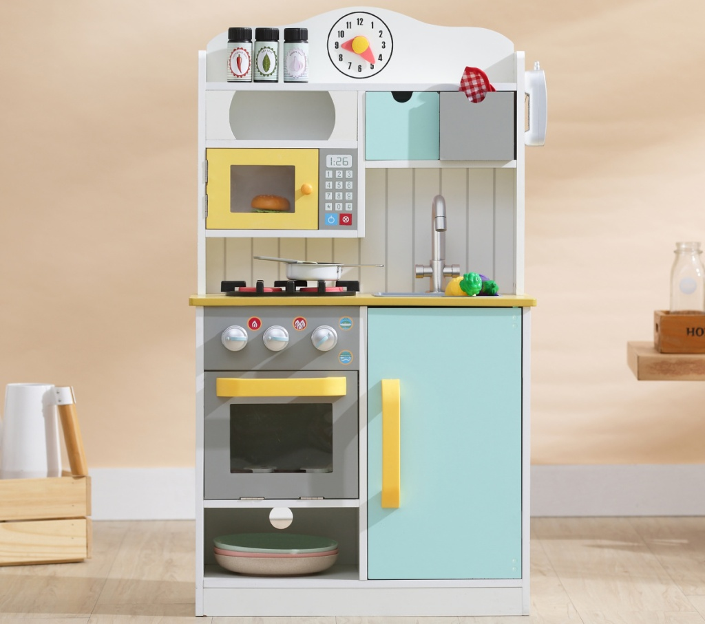 large play kitchen with accessories