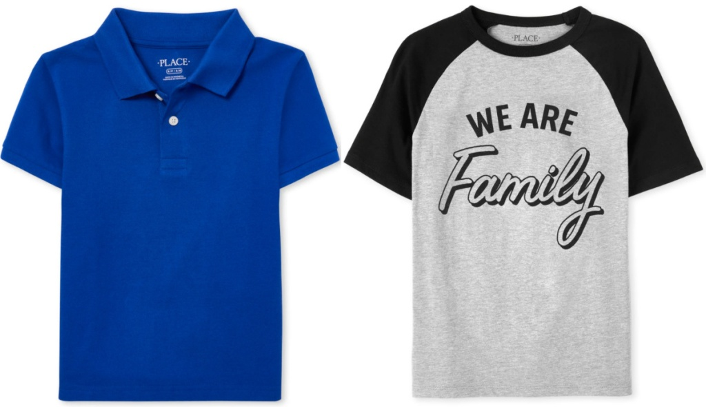 two boys children's place t-shirts