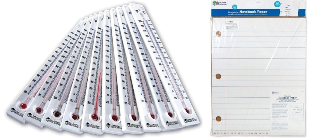 Thermometers and Notebook Paper