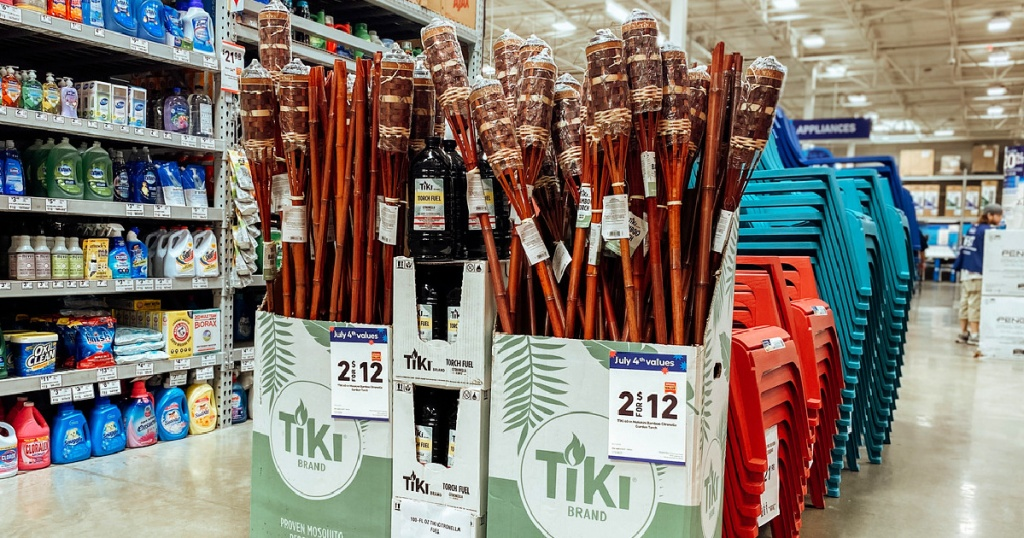 Tiki torches at Lowe's