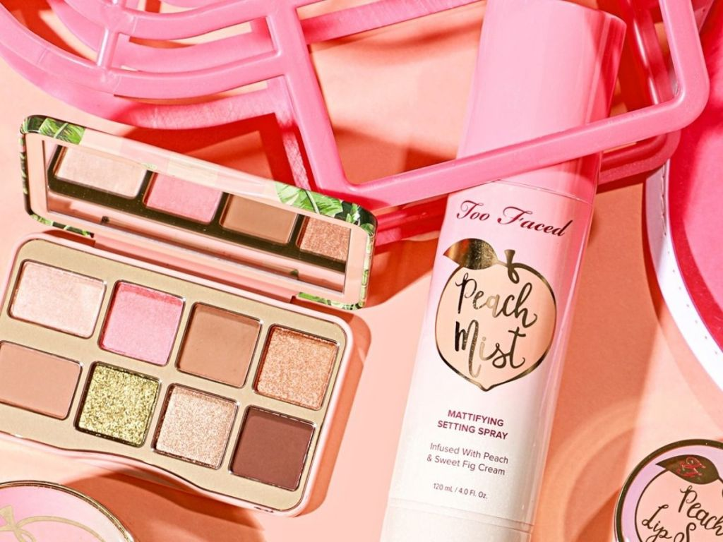 Too Faced Shake Your Palm Palette and Peach Setting Spray