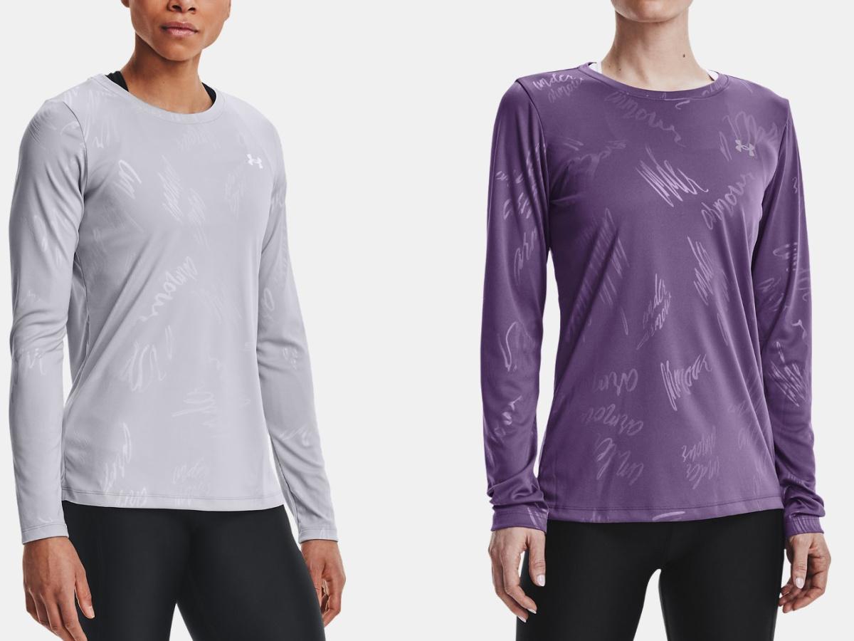 women wearing long sleeve athletic tees