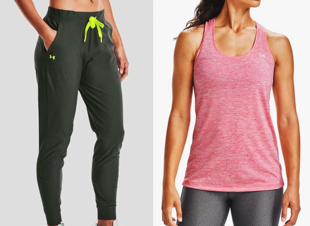 under armour womens joggers and tank