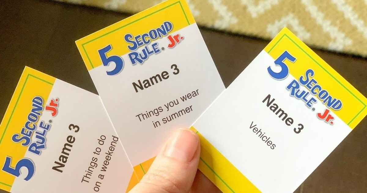 cards holding 5 second rule games