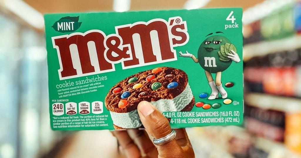 M&M'S Mint Chocolate Chip Ice Cream Sandwich