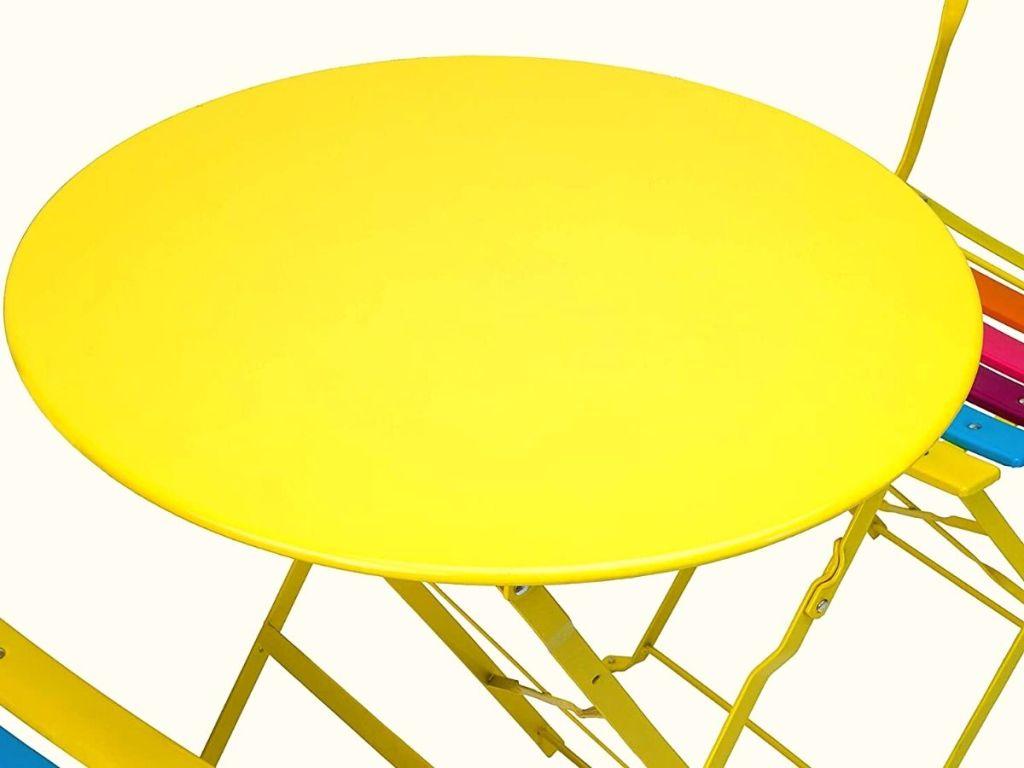 yellow patio table