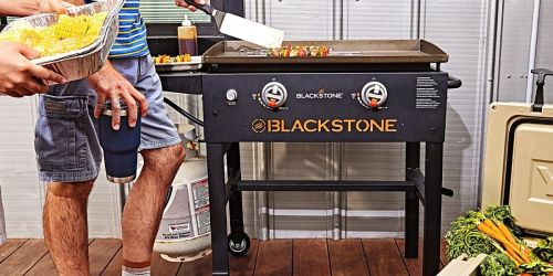 Blackstone 2-Burner Flat Top Grill Just $198 on Lowe's.com (Regularly $300) | Includes Cover & Grill Tool Kit